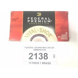 FEDERAL 338 WIN MAG 250 GR AMMUNITION