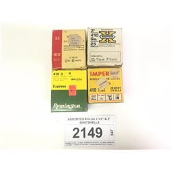 "ASSORTED 410 GA 2 1/2"" & 3"" SHOTSHELLS"