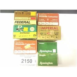ASSORTED 12 GA 2 3/4  SHOT AND SLUGS