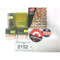 ASSORTED 22LR & AIR RIFLE AMMO