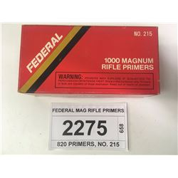 FEDERAL MAG RIFLE PRIMERS