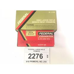 FEDERAL LARGE RIFLE PRIMERS