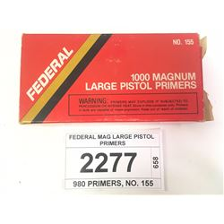 FEDERAL MAG LARGE PISTOL PRIMERS