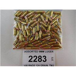 ASSORTED 9MM LUGER