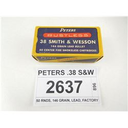 PETERS .38 S&W