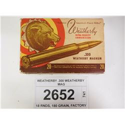 WEATHERBY .300 WEATHERBY MAG