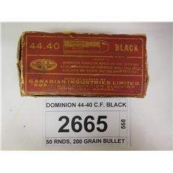 DOMINION 44-40 C.F. BLACK