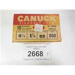 CANUCK 10 GA 2 3/4  SHOT SHELLS