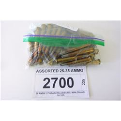ASSORTED 25-35 AMMO