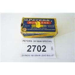 PETERS .38 S&W SPECIAL