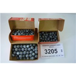ASSORTED HORNADY LEAD BALLS
