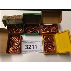 ASSORTED .25 CAL. BULLETS