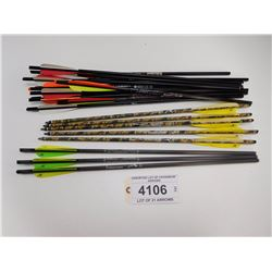 ASSORTED LOT OF CROSSBOW ARROWS