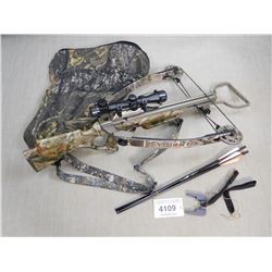 HORTON VISION 175 CROSSBOW WITH MOUNTED SCOPE AND (3) BOLTS