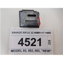 SAVAGE RIFLE 22 WMR+17 HMR