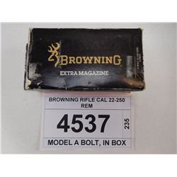 BROWNING RIFLE CAL 22-250 REM