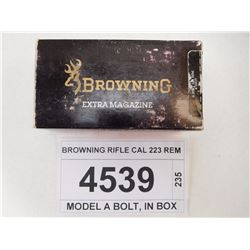 BROWNING RIFLE CAL 223 REM