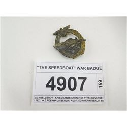 """THE SPEEDBOAT"" WAR BADGE"