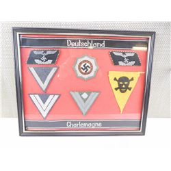ASSORTED MOUNTED GERMAN PATCHES