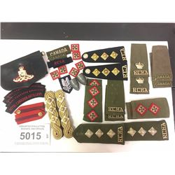 ASSORTED EPAULETTES, BADGES, AND BRAIDS