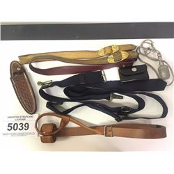 ASSORTED STRAPS AND LEATHER