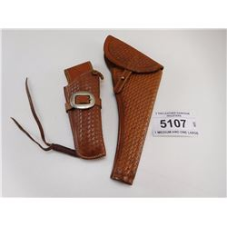 2 TAN LEATHER HANDGUN  HOLSTERS