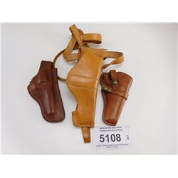 ASSORTED LEATHER HANDGUN HOLSTERS