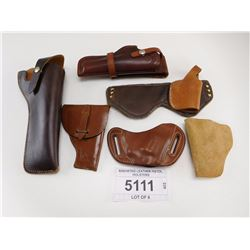 ASSORTED LEATHER PISTOL HOLSTERS