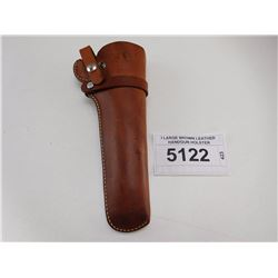 I LARGE BROWN LEATHER HANDGUN HOLSTER