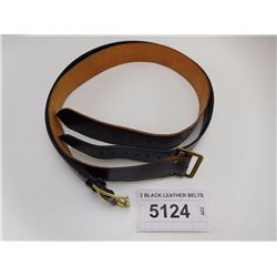 2 BLACK LEATHER BELTS