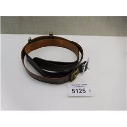 1 BLACK AND 1 BROWN LEATHER BELTS