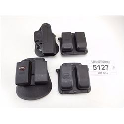 3 MAG HOLDERS AND 1 HOLSTER FOR GLOCK