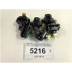 TRIGGER LOCKS ASSORTED KEYS INCL. P148, P188, P733, AND SW599