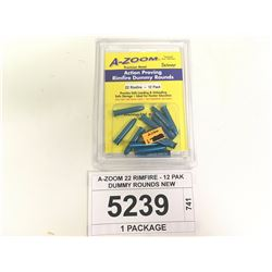 A-ZOOM 22 RIMFIRE - 12 PAK DUMMY ROUNDS NEW