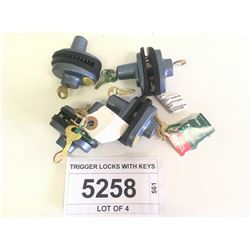 TRIGGER LOCKS WITH KEYS