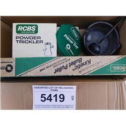 ASSORTED LOT OF RELOADING ITEMS