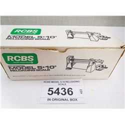 RCBS MODEL 5.10 RELOADING SCALE