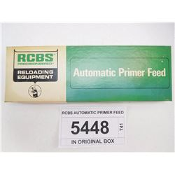 RCBS AUTOMATIC PRIMER FEED