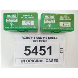 RCBS # 3 AND # 6 SHELL HOLDERS