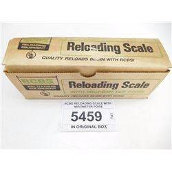 RCBS RELOADING SCALE WITH MIROMETER POISE