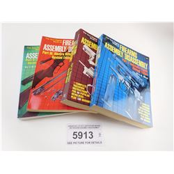 ASSORTED LOT OF 4 SOFTCOVER BOOKS ON FIREARM ASSEMBLY/DISASSEMBLY