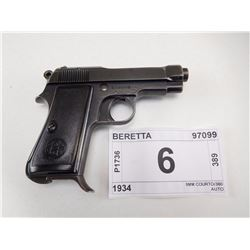BERETTA , MODEL: 1934 , CALIBER: 9MM COURTO/380 AUTO