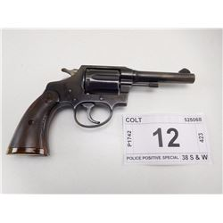 COLT , MODEL: POLICE POSITIVE SPECIAL  , CALIBER: 38 S & W