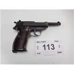 WALTHER , MODEL: P38 , CALIBER: 9MM