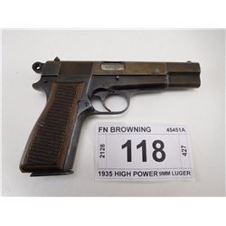 FN BROWNING , MODEL: 1935 HIGH POWER , CALIBER: 9MM LUGER