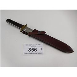 BOWIE STYLE KNIFE WITH SHEATH