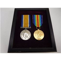 WWI ERA CANADIAN MEDALS MOUNTED IN FRAME