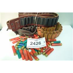 ASSORTED AMMO BELTS & AMMO