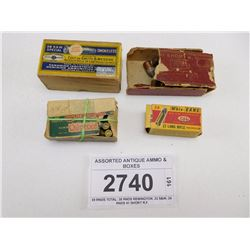 ASSORTED ANTIQUE AMMO & BOXES