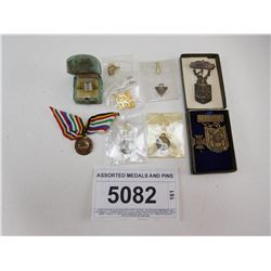 ASSORTED MEDALS AND PINS